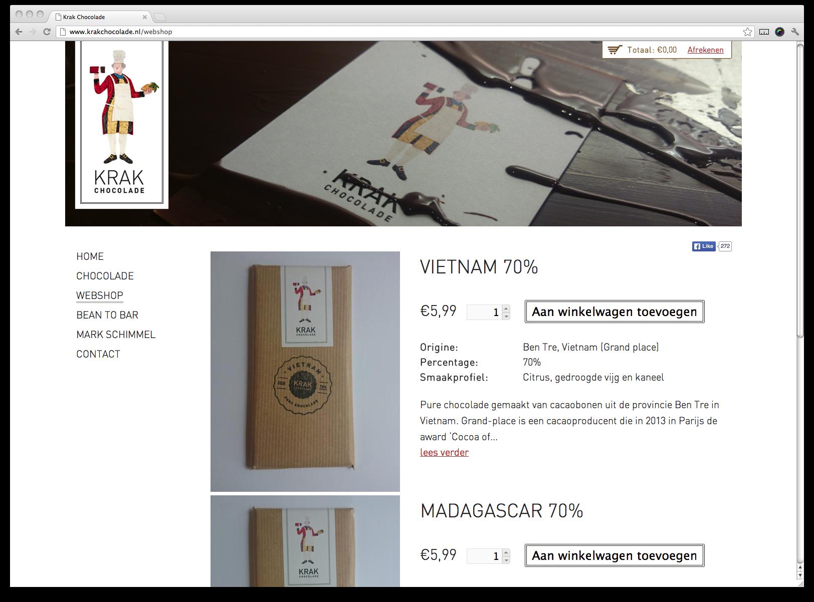Krak Chocolade Webwinkel
